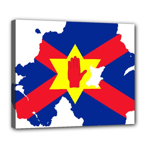 Ulster Nationalists Flag Map Of Northern Ireland Deluxe Canvas 24  X 20  (stretched) by abbeyz71