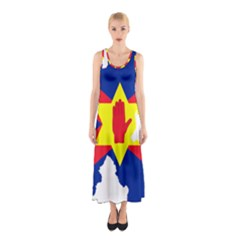 Ulster Nationalists Flag Map Of Northern Ireland Sleeveless Maxi Dress