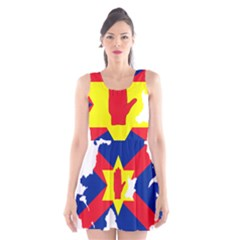 Ulster Nationalists Flag Map Of Northern Ireland Scoop Neck Skater Dress