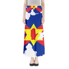 Ulster Nationalists Flag Map Of Northern Ireland Full Length Maxi Skirt