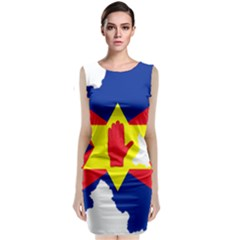 Ulster Nationalists Flag Map Of Northern Ireland Classic Sleeveless Midi Dress