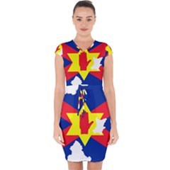 Ulster Nationalists Flag Map Of Northern Ireland Capsleeve Drawstring Dress