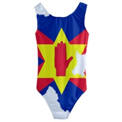 Ulster Nationalists Flag Map Of Northern Ireland Kids  Cut Out Back One Piece Swimsuit