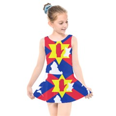 Ulster Nationalists Flag Map Of Northern Ireland Kids  Skater Dress Swimsuit