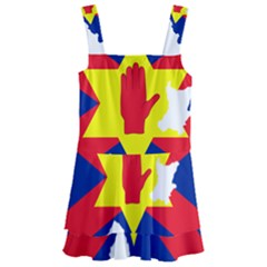 Ulster Nationalists Flag Map Of Northern Ireland Kids  Layered Skirt Swimsuit
