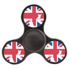 Union Jack Flag Map Of Northern Ireland Finger Spinner by abbeyz71