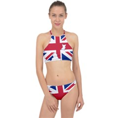 Union Jack Flag Map Of Northern Ireland Racer Front Bikini Set