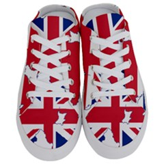 Union Jack Flag Map Of Northern Ireland Half Slippers by abbeyz71