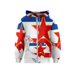 Flag Map Of Socialist Federal Republic Of Yugoslavia Kids  Zipper Hoodie by abbeyz71