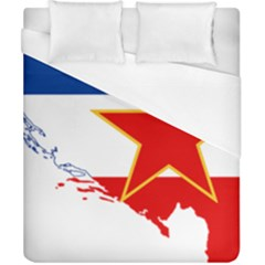Flag Map Of Socialist Federal Republic Of Yugoslavia Duvet Cover (california King Size) by abbeyz71