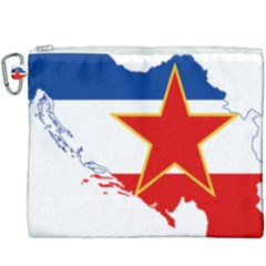 Flag Map Of Socialist Federal Republic Of Yugoslavia Canvas Cosmetic Bag (xxxl) by abbeyz71