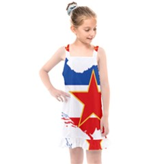 Flag Map Of Socialist Federal Republic Of Yugoslavia Kids  Overall Dress