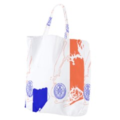 Flag Map Of New York City Giant Grocery Tote