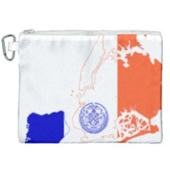 Flag Map Of New York City Canvas Cosmetic Bag (xxl) by abbeyz71