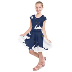 Flag Map Of Alaska Kids  Short Sleeve Dress by abbeyz71