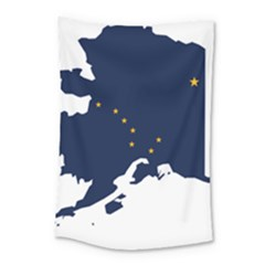 Flag Map Of Alaska Small Tapestry by abbeyz71