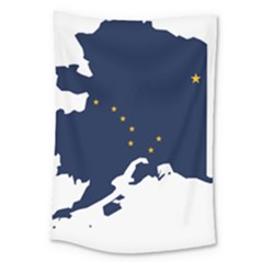 Flag Map Of Alaska Large Tapestry