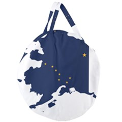 Flag Map Of Alaska Giant Round Zipper Tote by abbeyz71