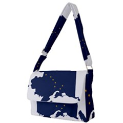 Flag Map Of Alaska Full Print Messenger Bag by abbeyz71
