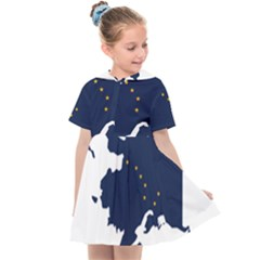 Flag Map Of Alaska Kids  Sailor Dress by abbeyz71