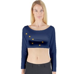 Flag Of Alaska Long Sleeve Crop Top