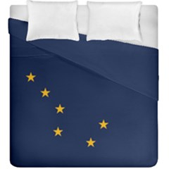 Flag Of Alaska Duvet Cover Double Side (king Size) by abbeyz71