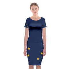 Flag Of Alaska Classic Short Sleeve Midi Dress