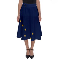 Flag Of Alaska Perfect Length Midi Skirt