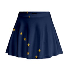 Flag Of Alaska Mini Flare Skirt