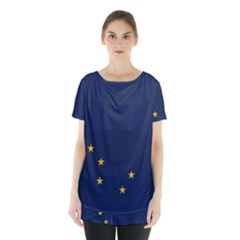 Flag Of Alaska Skirt Hem Sports Top