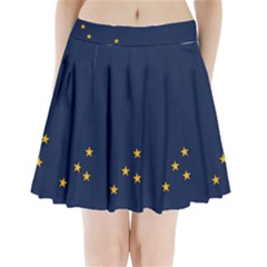 Flag Of Alaska Pleated Mini Skirt