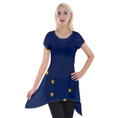 Flag Of Alaska Short Sleeve Side Drop Tunic