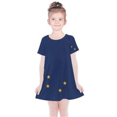 Flag Of Alaska Kids  Simple Cotton Dress by abbeyz71
