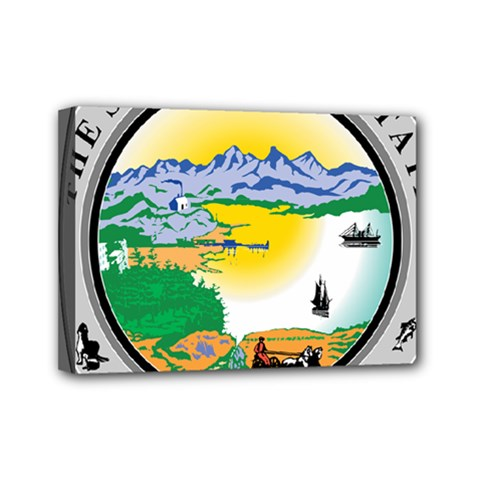 State Seal Of Alaska  Mini Canvas 7  X 5  (stretched) by abbeyz71