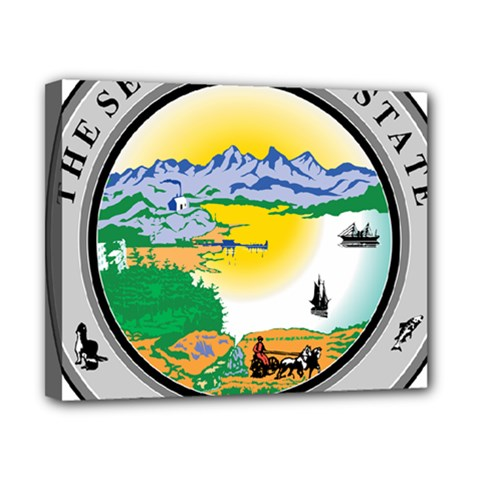 State Seal Of Alaska  Canvas 10  X 8  (stretched) by abbeyz71