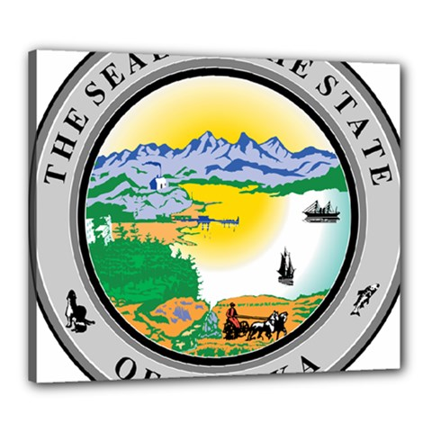 State Seal Of Alaska  Canvas 24  X 20  (stretched)