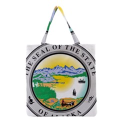 State Seal Of Alaska  Grocery Tote Bag by abbeyz71