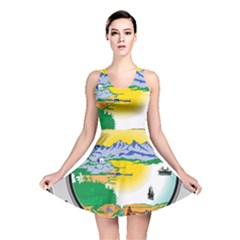State Seal Of Alaska  Reversible Skater Dress