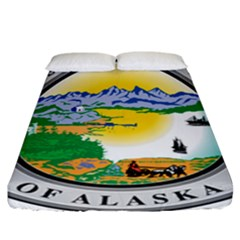 State Seal Of Alaska  Fitted Sheet (california King Size)