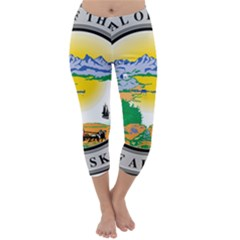 State Seal Of Alaska  Capri Winter Leggings  by abbeyz71