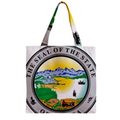 State Seal Of Alaska  Zipper Grocery Tote Bag by abbeyz71