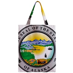 State Seal Of Alaska  Zipper Classic Tote Bag by abbeyz71