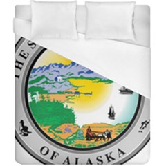 State Seal Of Alaska  Duvet Cover (california King Size) by abbeyz71