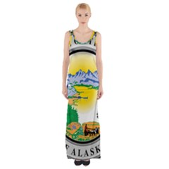 State Seal Of Alaska  Maxi Thigh Split Dress