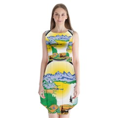 State Seal Of Alaska  Sleeveless Chiffon Dress