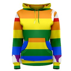 Usa Lgbt Flag Map Women s Pullover Hoodie