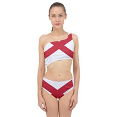 Flag Map Of Alabama Spliced Up Two Piece Swimsuit