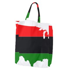 Pan African Flag Map Of United States Giant Grocery Tote by abbeyz71