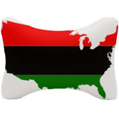 Pan African Flag Map Of United States Seat Head Rest Cushion by abbeyz71
