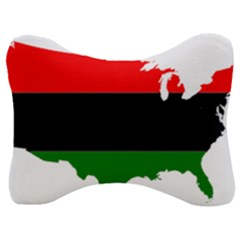 Pan African Flag Map Of United States Velour Seat Head Rest Cushion by abbeyz71